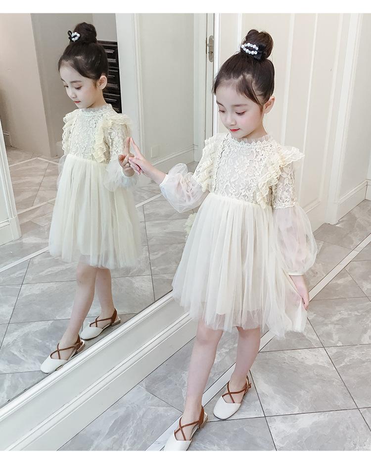 Girl White Princess Dress