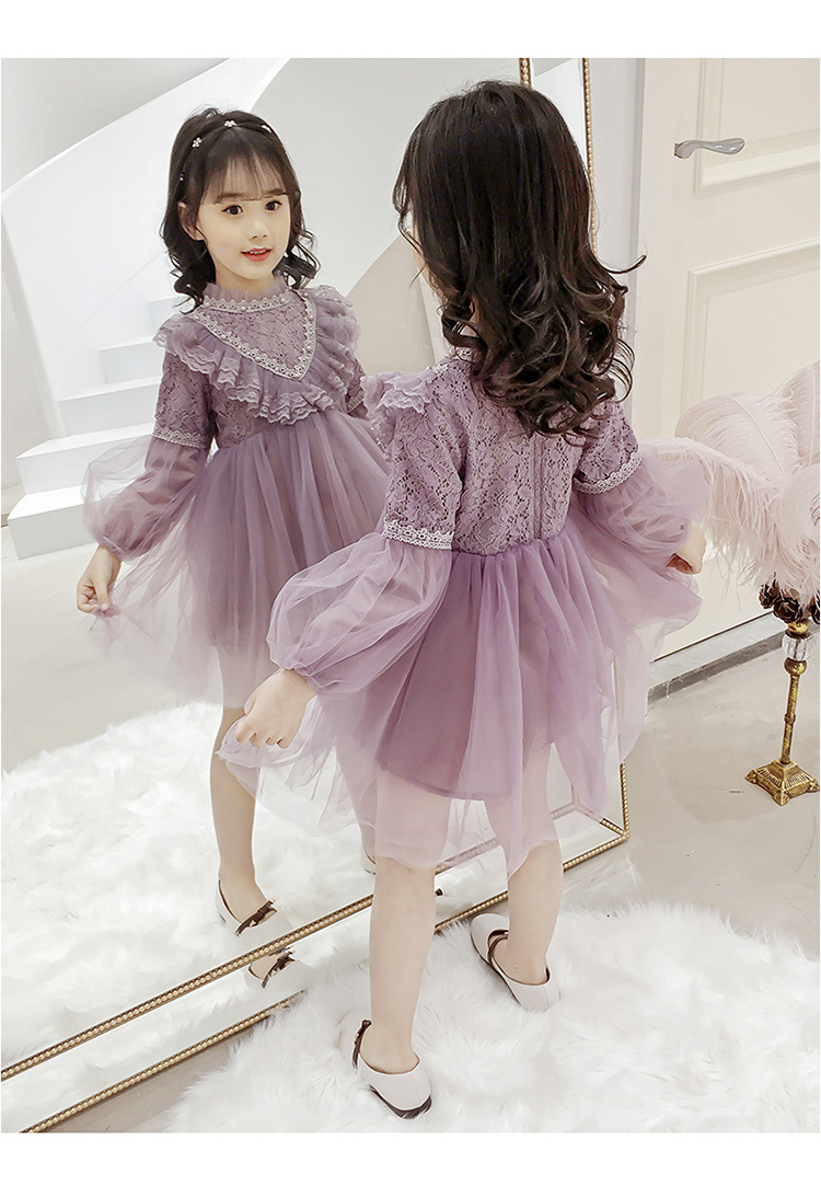 Girl Princess violet dress