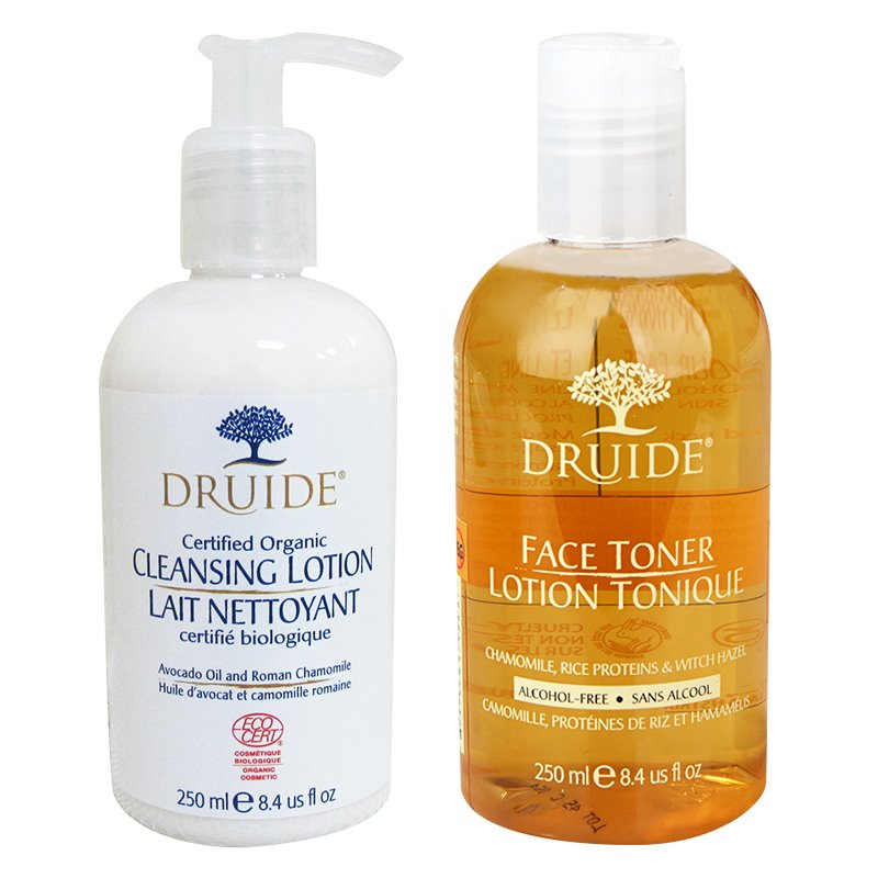 DRUIDE DUO FACIAL CLEANSER & FACE TONER