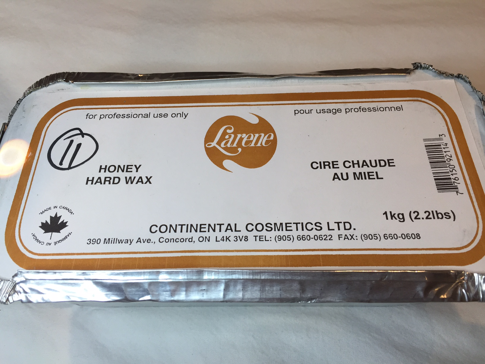 Hard Wax- Larene Brazilian, Underarm , face Honey Hard Wax economic package 1kg