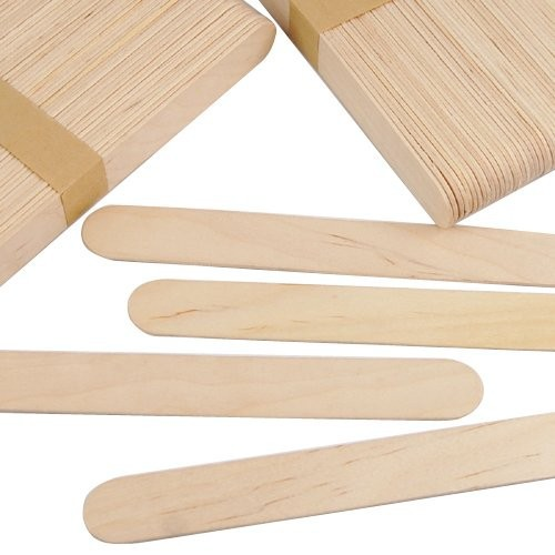 50 Pieces Disposable Wooden Waxing Spatula Tongue Depressor