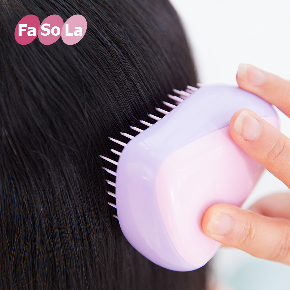 FaSoLa Original Detangling Brush for thick, thin, dry or wet hair - Detangler Hair Brush for Adults or Kids