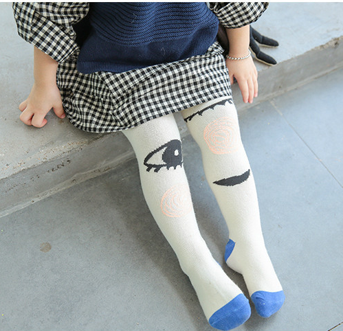 Kid fun tights, four season pants, big eyes 2-4 years