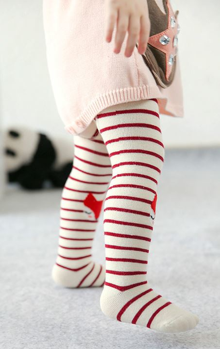 Kid fun tights, four season pants, red fox